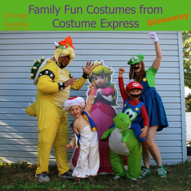 Orange Tuesday cover  sc 1 st  Suburban Wife City Life & OrangeTuesday Family Fun Costumes: Super Mario Brothers - Suburban ...