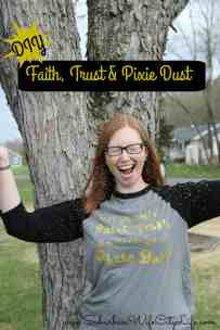 Faith, Trust & Pixie Dust DIY shirt