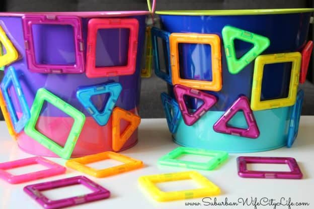 Neon Magformers for Easter Baskets