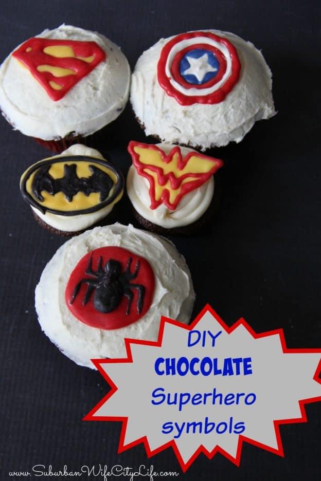 """DIY Chocolate Superhero Symbols"""