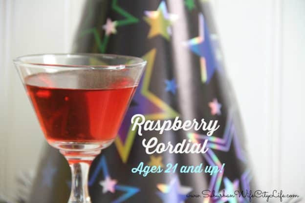 Raspberry Cordial (ages 21 and up!)