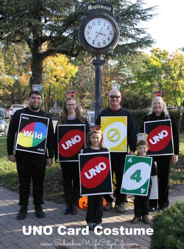 UNO Card Group Costume