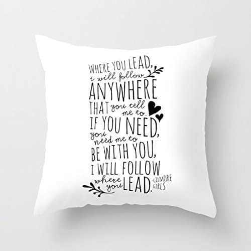 Gilmore Girls Theme Song Pillow Case
