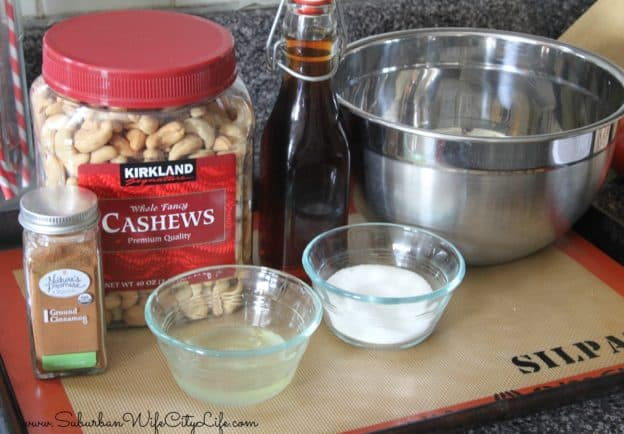 Supplies for Vanilla Cinnamon Sugar Cashews