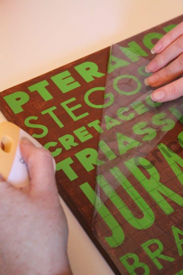 Cricut Transfer Tape Dino Wall Art