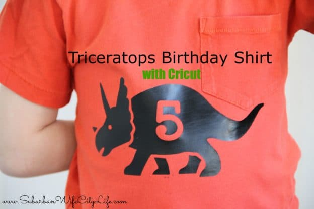 Triceratops Birthday Shirt DIY with Cricut
