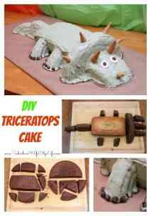 DIY Triceratops Cake