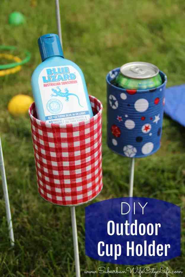 DIY Outdoor cupholders