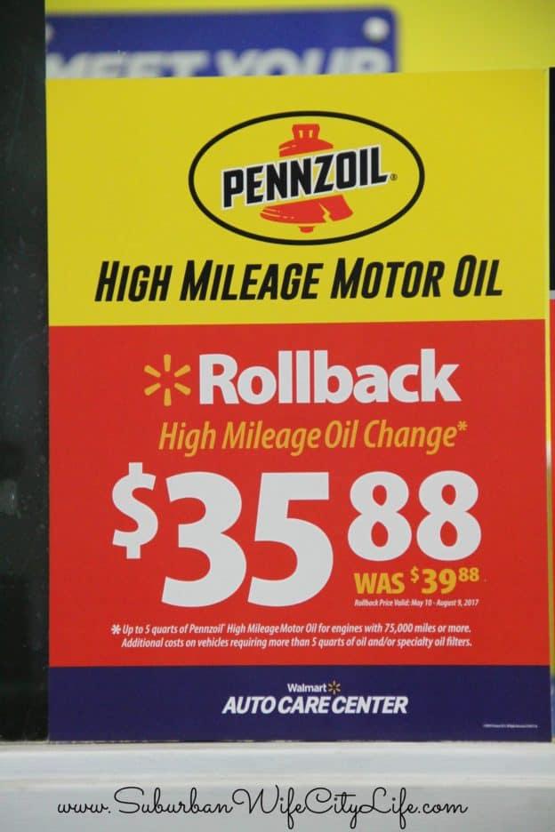 Pennzoil High Mileage Rollback #RoadTripOil
