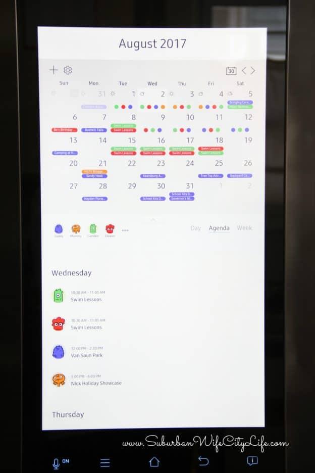 Samsung Family Hub 2.0 Calendar