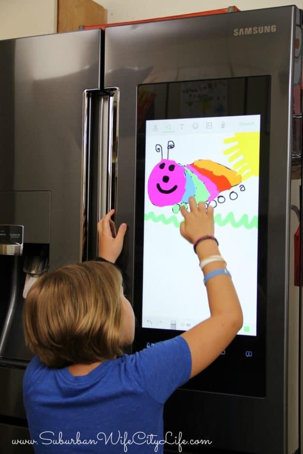 Samsung Family Hub 2.0 Drawing