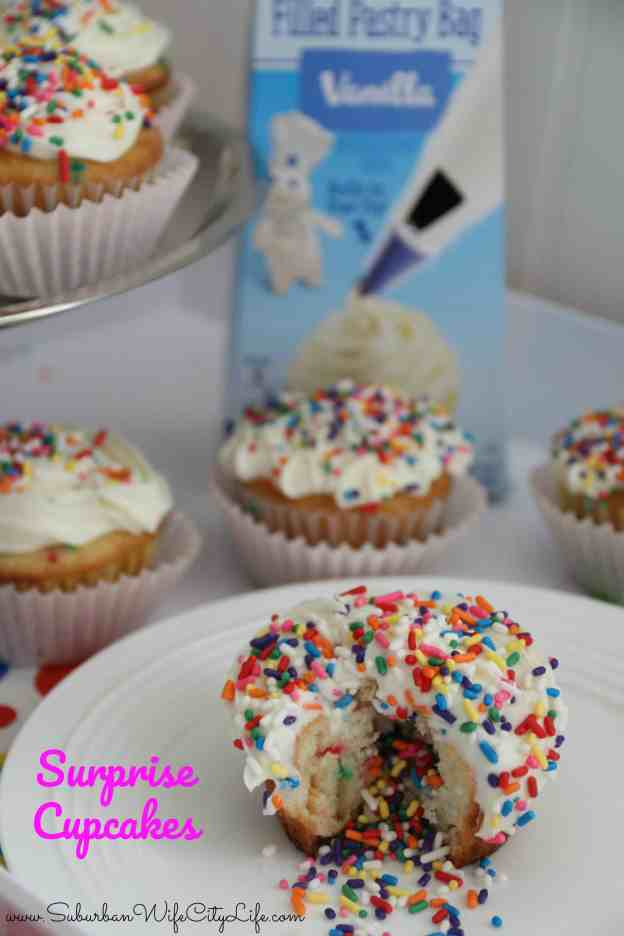 Surprise cupcakes with Pillsbury Filled Pastry Bag