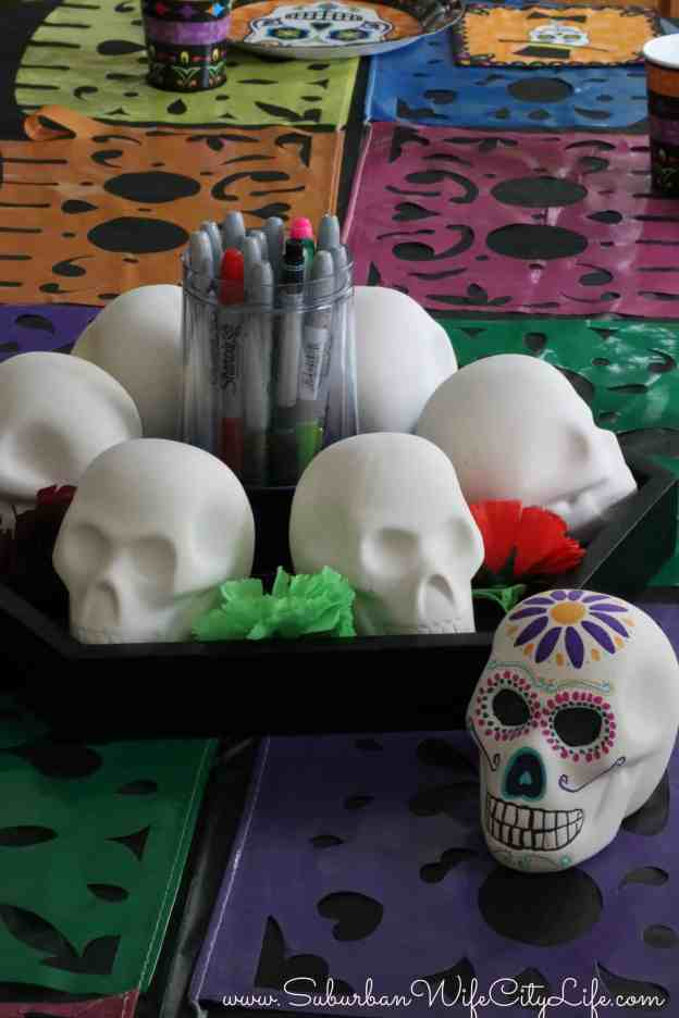 DIY Sugar Skull Decorating