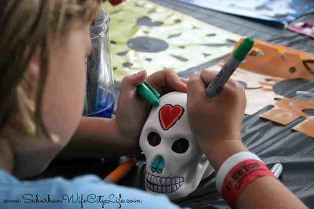 DIY Sugar Skulls from Oriental Trading