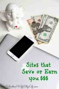Sites to Save or Earn You Money