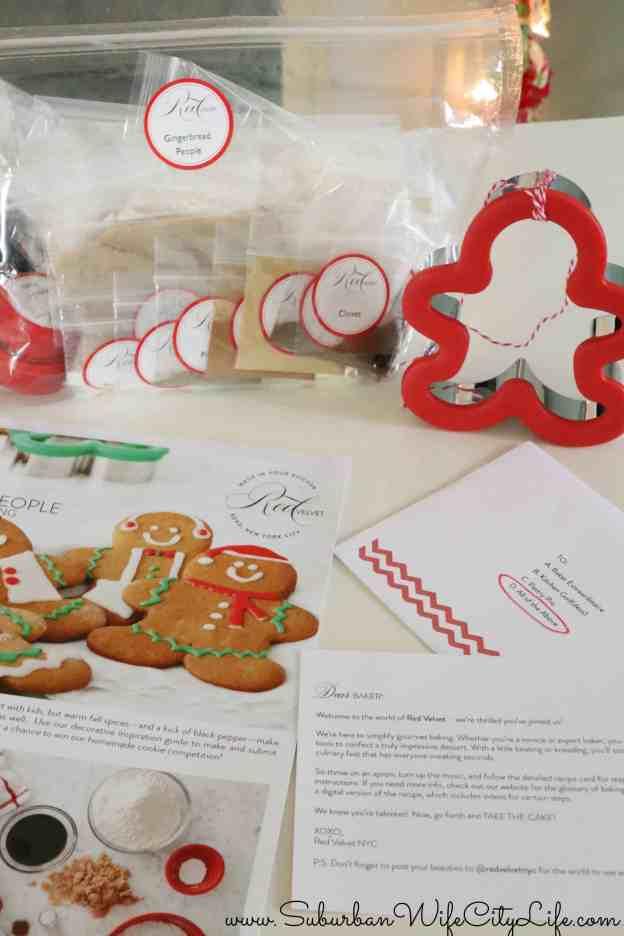 Red Velvet NYC Gingerbread People Kit