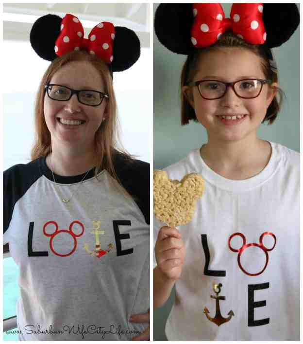 DIY Disney LOVE shirts #CricutMade