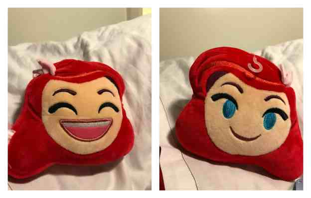 Ariel Emoji Pillow