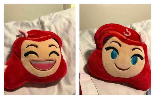 Ariel Emoji Pillow