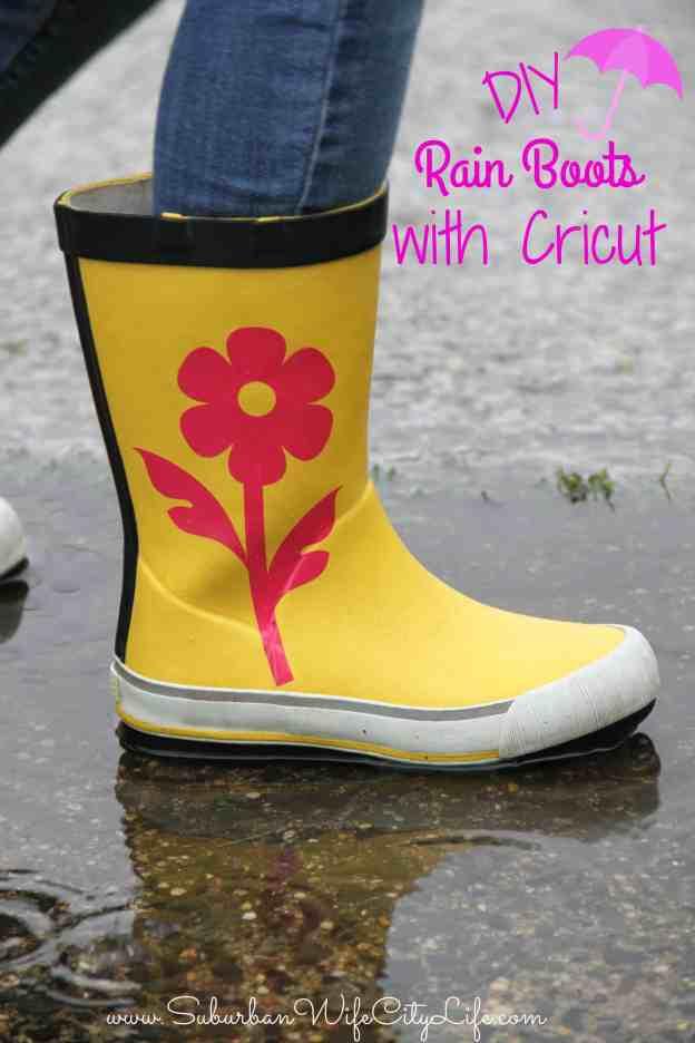 DIY Rain Boots with Cricut #CricutMade