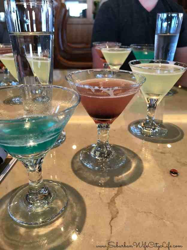 Disney Cruise Martini Tasting