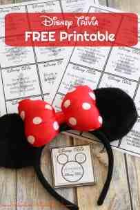 Disney Trivia – Free Printable