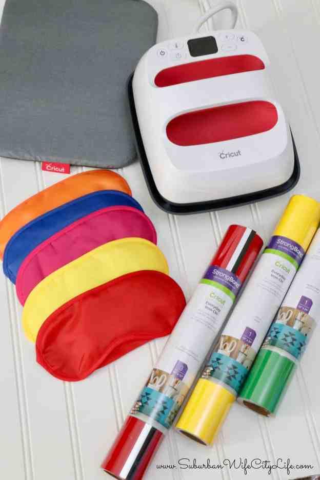 Cricut Easy Press 2 Disney Sleep Mask Supplies