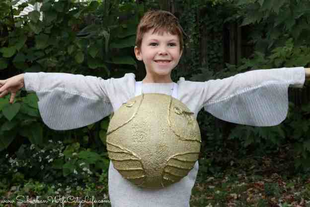 Golden Snitch Costume - Suburban Wife, City Life |Diy Golden Snitch Costume