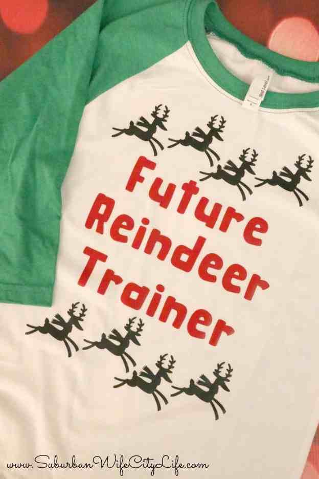 Future Reindeer Trainer shirt with Cricut