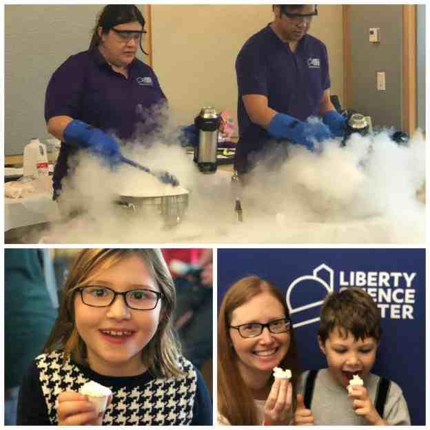 Liquid Nitrogen Ice Cream at Liberty Science Center