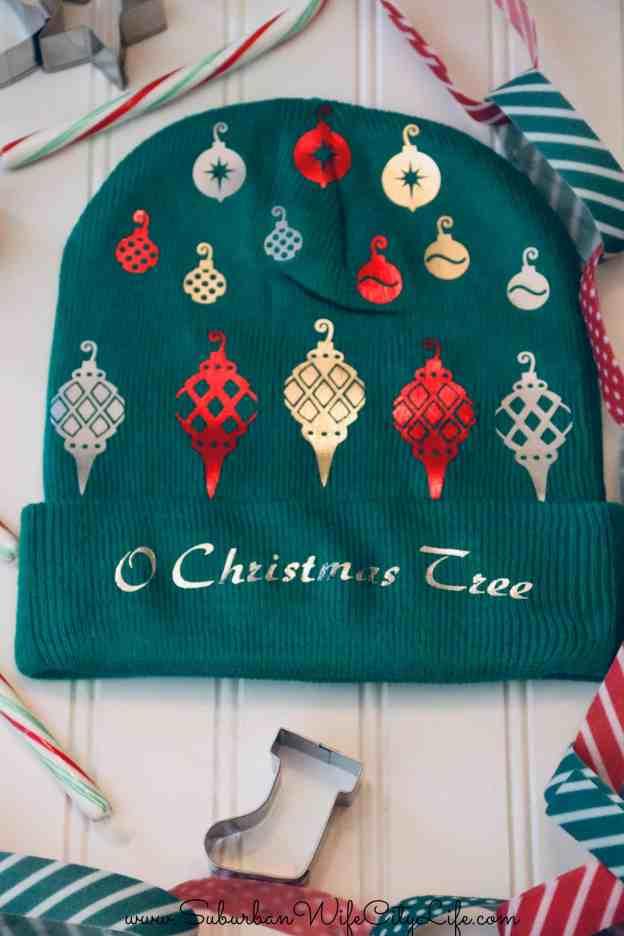 O Christmas Tree Ugly Christmas Hat #CricutMade
