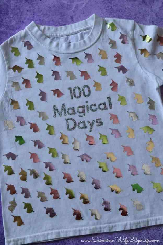 100 Magical Days Shirt for the 100th day of school #CricutMade