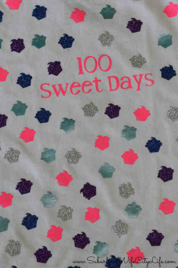 100 sweet days shirt for the 100th day of school #CricutMade