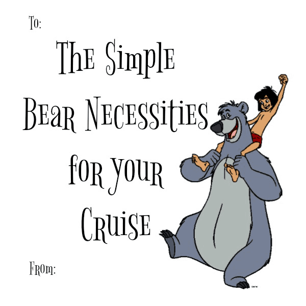 Bear Necessities tag