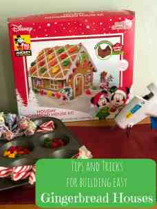Tips and Tricks for building easy Gingerbread Houses