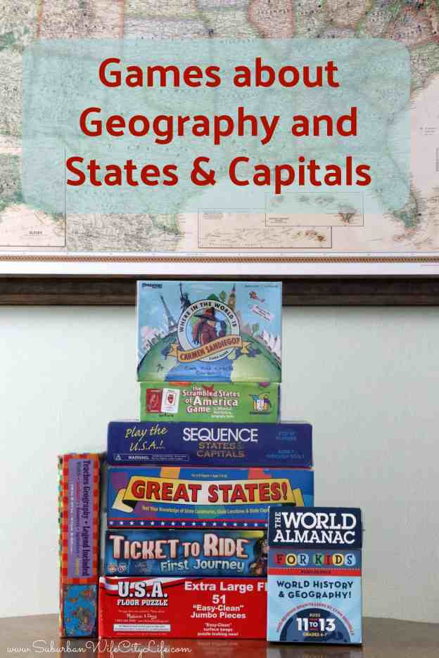 Games about Geography and States and Capitals