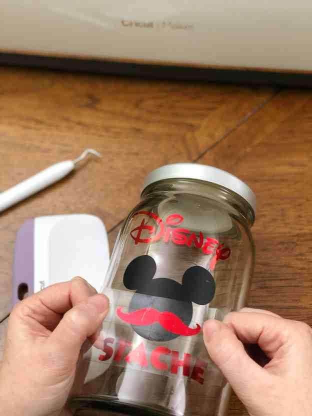 Disney Stache Jar #CricutMade
