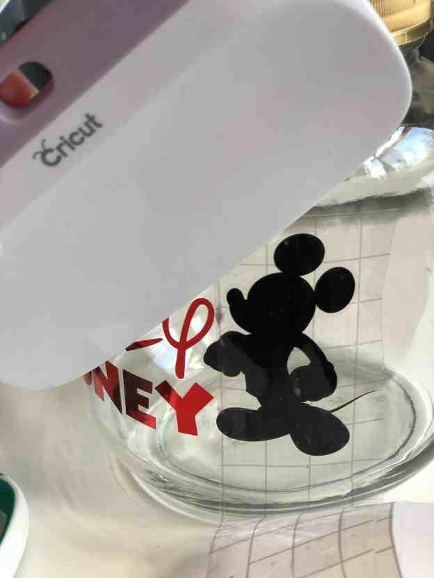Mickey Money Jar use Transfer Tape