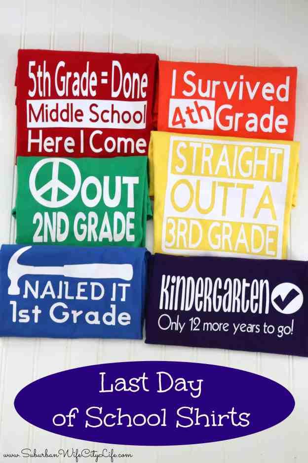 Last Day of School Shirts #cricutcreated