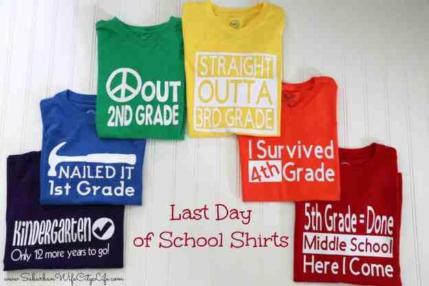 Last Day of School Shirts