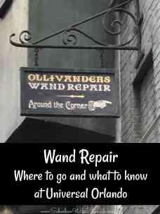 Wand Repair at Universal Orlando