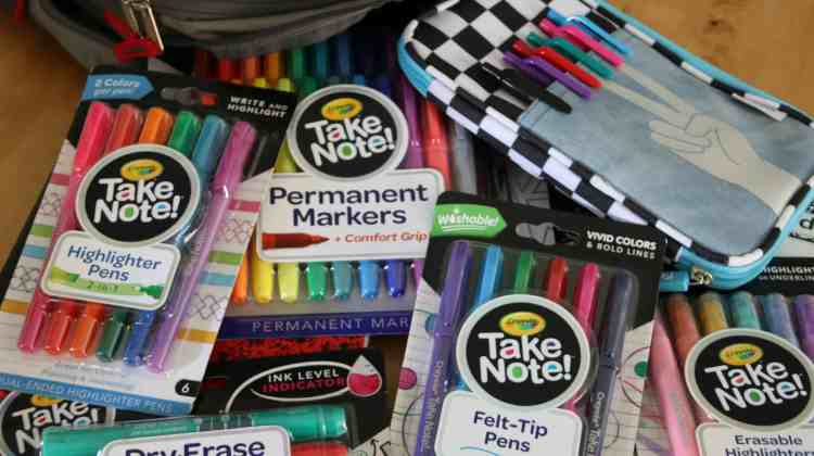 Crayola Take Note! makes back to school Colorful!