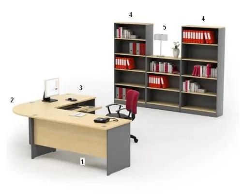 HighPoint Set Meja Kantor Kozy Mercury Series Workstation 4