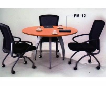 Meja Rapat Bulat Aditech type FM-12