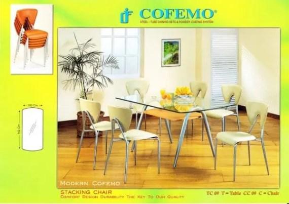Cofemo Meja 6 Kursi makan type TC 09 CC 09