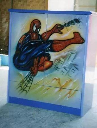 Duco Lemari Pakaian Anak 2 Pintu Spider