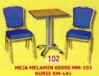 Polaris Meja Melamine type MM 102 dan Kursi KM 141