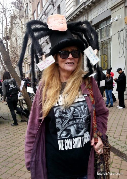 Awesome protestor at Women's March Oakland
