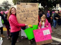 A Women's March is by nature, a mom's march too. Love these hand-made protest signs from the girls. They ar't carrying their mother's signs, they have their own ideas to express.