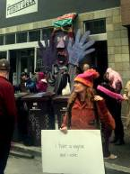 giant puppet protest art